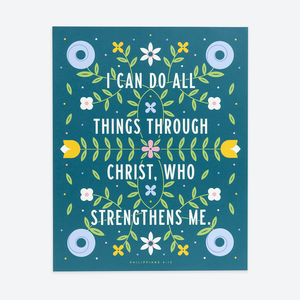 Do All Things, Floral Poster