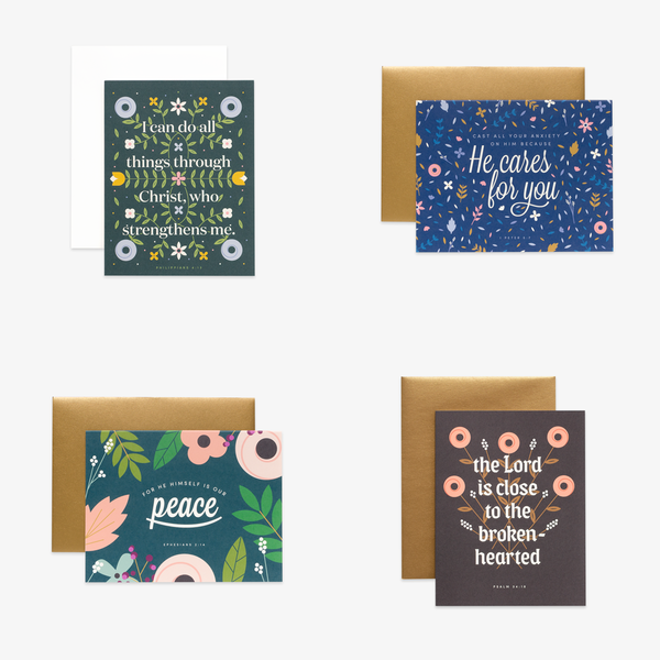 Encouragement Floral, Assorted Card Set