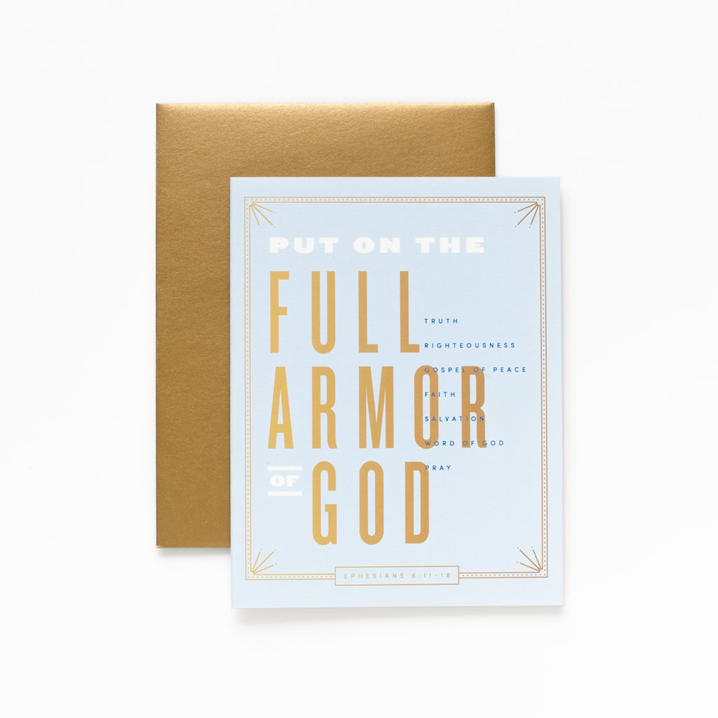 Full Armor, Light Blue Greeting Card