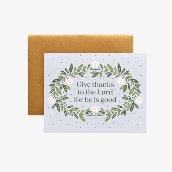 Give Thanks, Floral Greeting Card