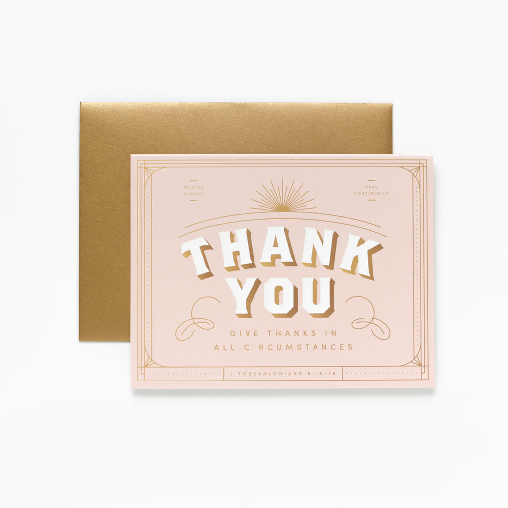 Give Thanks, Blush Thank You Greeting Card