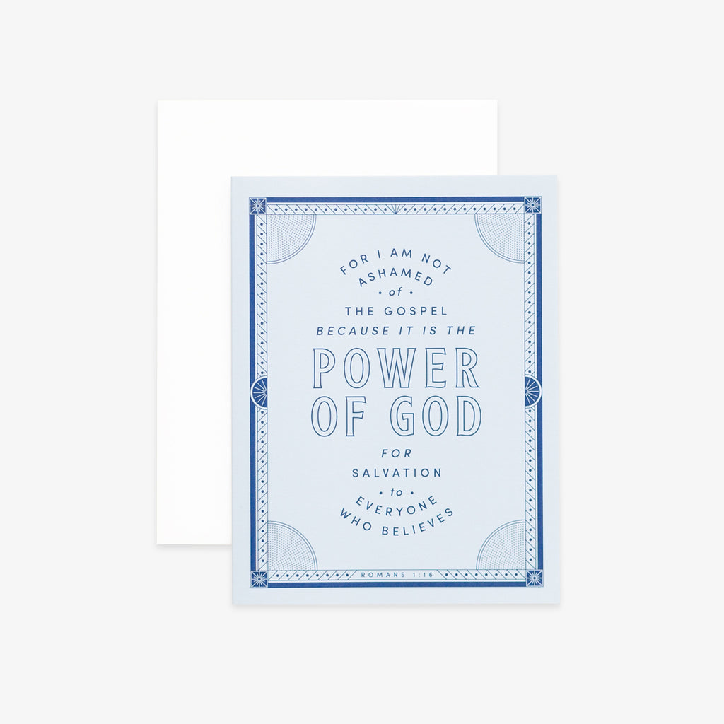 I Am Not Ashamed, Light Blue Greeting Card