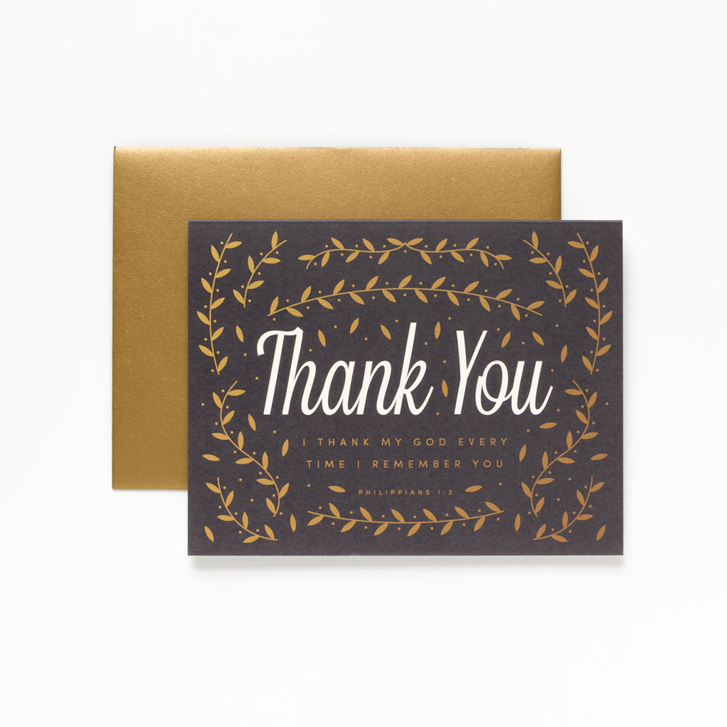 I Remember You, Floral Thank You Greeting Card