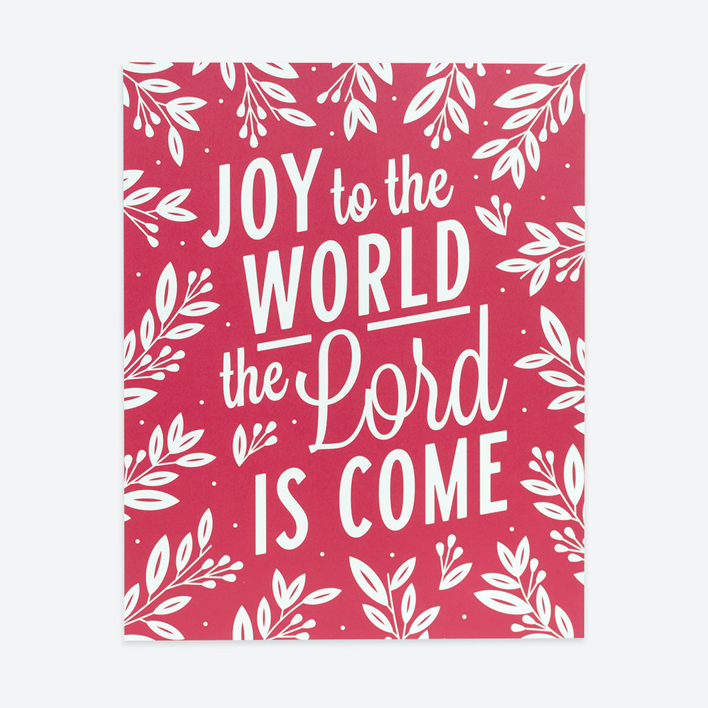 Joy to the World, Red Christmas Poster