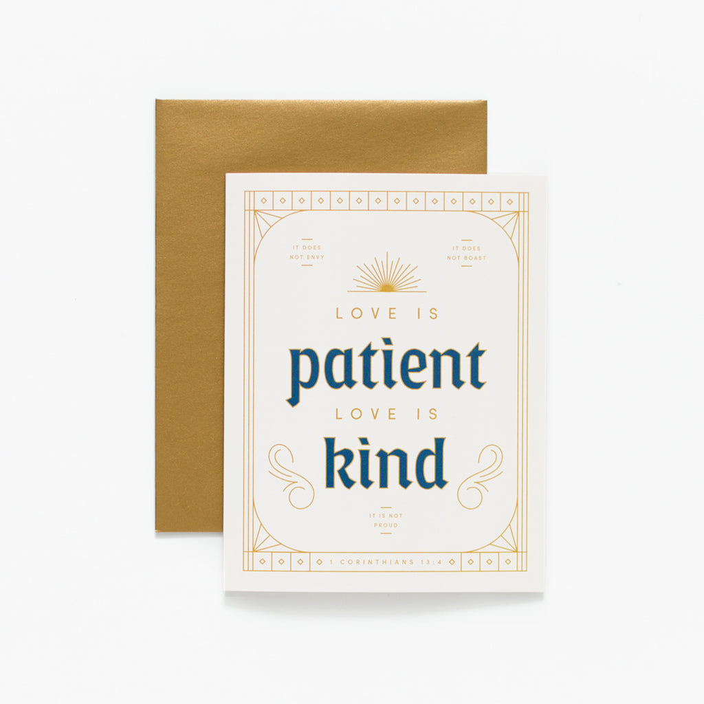Love is Patient, Cream Greeting Card