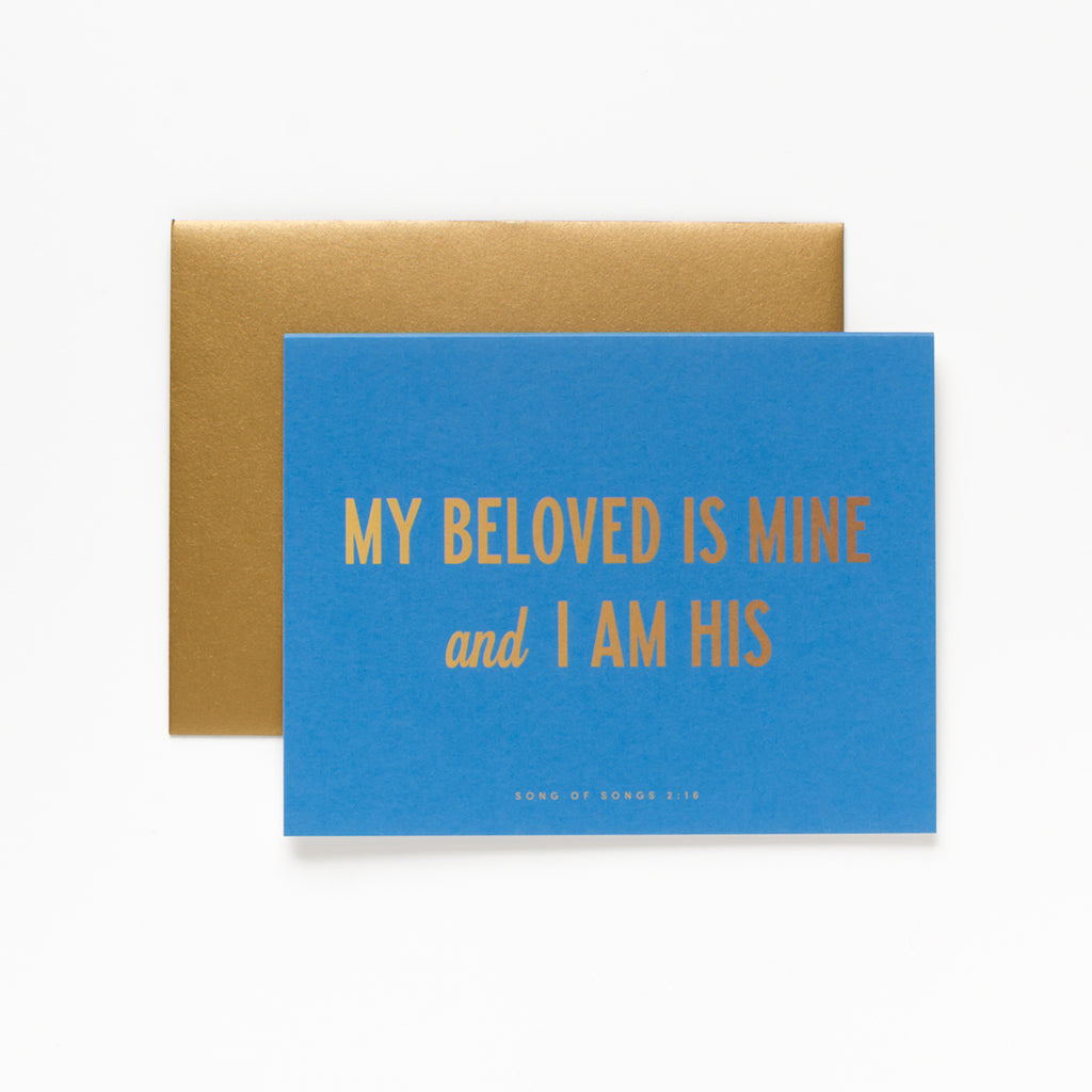My Beloved, Blue Greeting Card