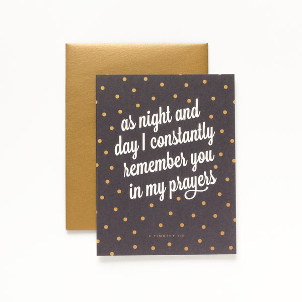 Night and Day, Black Greeting Card