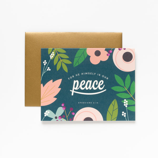 Peace, Floral Greeting Card