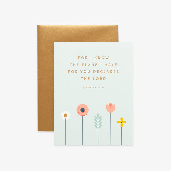 Plans, Floral Greeting Card