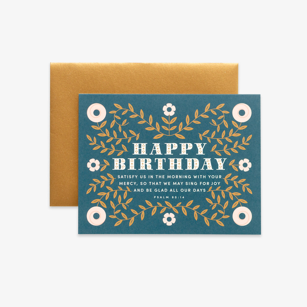 Sing for Joy, Floral Birthday Greeting Card