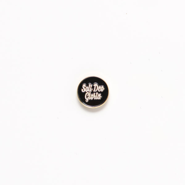 Soli Deo Gloria, Black Enamel Pin