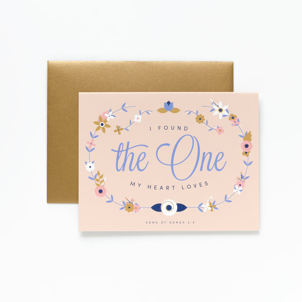 The One, Floral Greeting Card