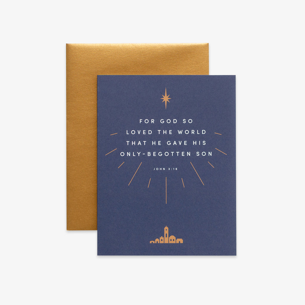 So Loved the World, Navy Christmas Greeting Card