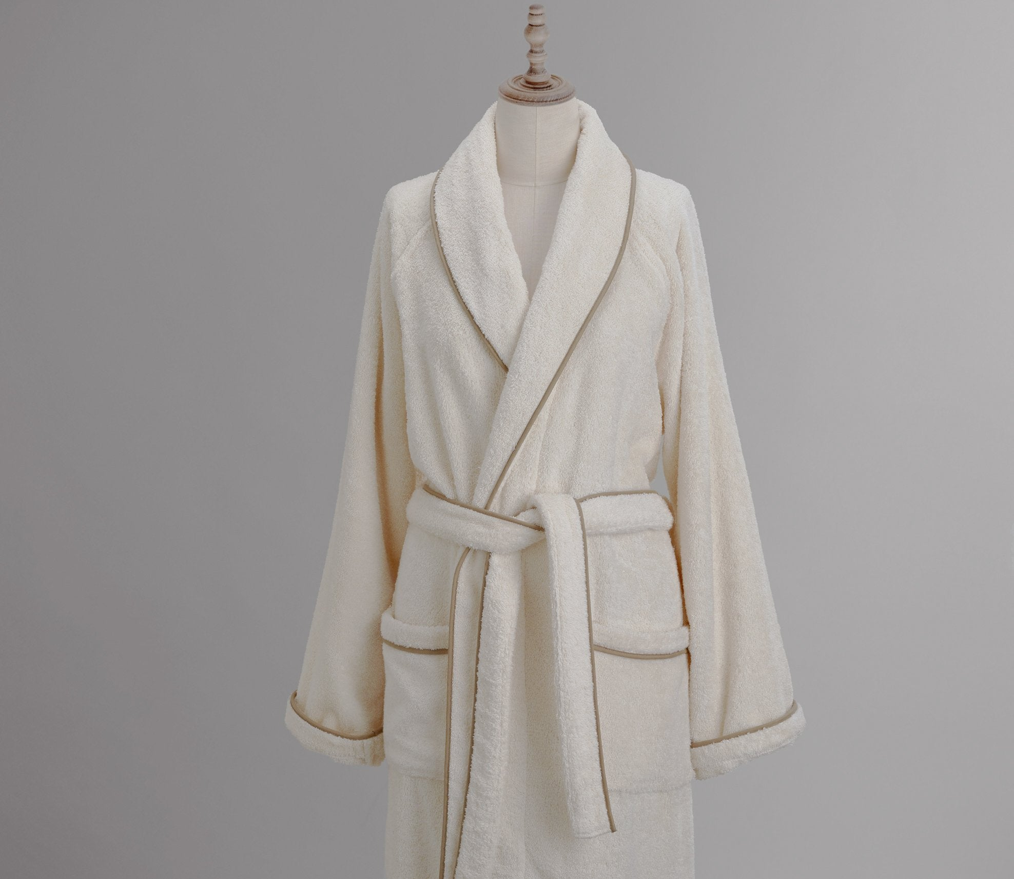 Cairo Robe Ivory with Custom Trim Product Image 1