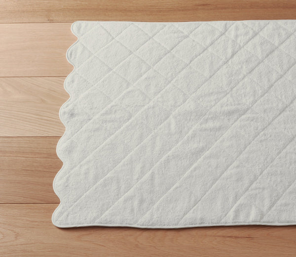 Scallop Bath Mat Ivory