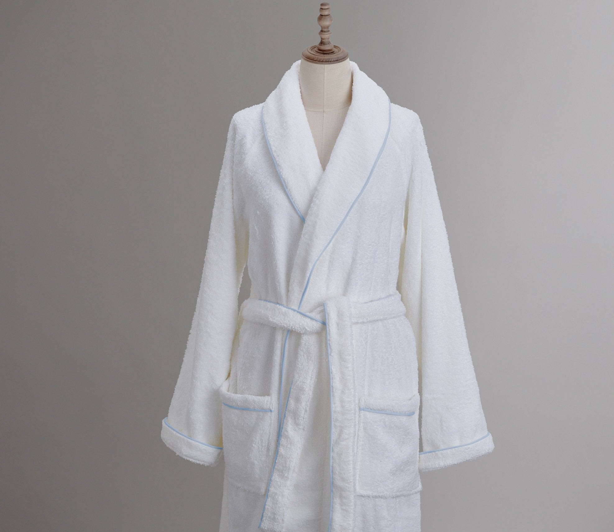 Cairo Robe White with Custom Trim Product Image 1