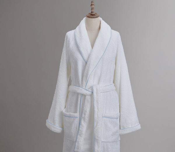 Cairo Robe White with Custom Trim