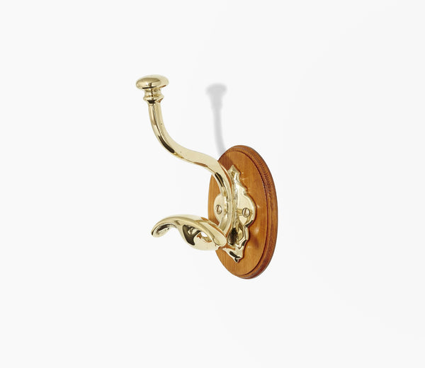Classic Double Wooden-Mount Hook