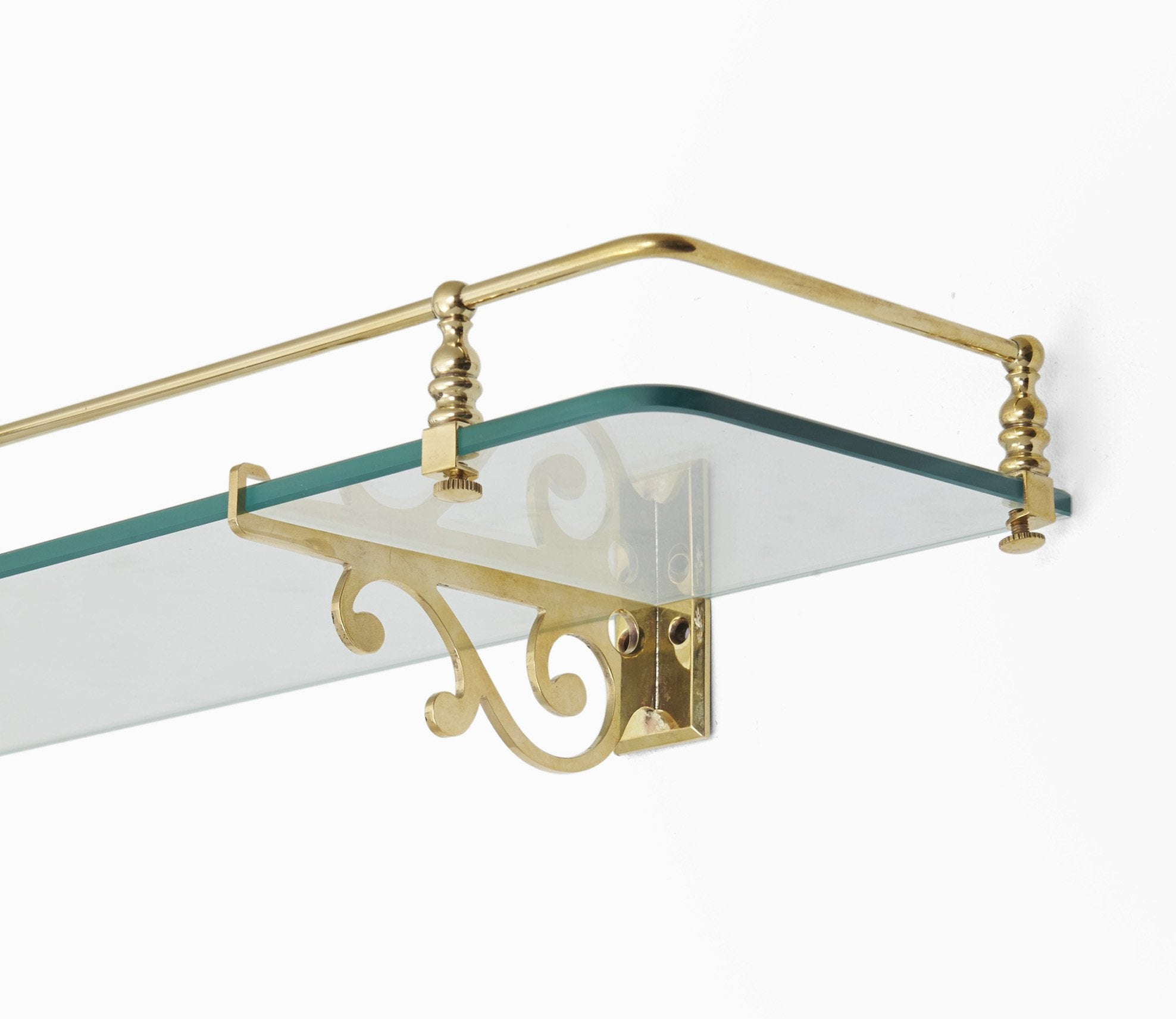 Classic Glass Shelf with Scroll Support Product Image 2