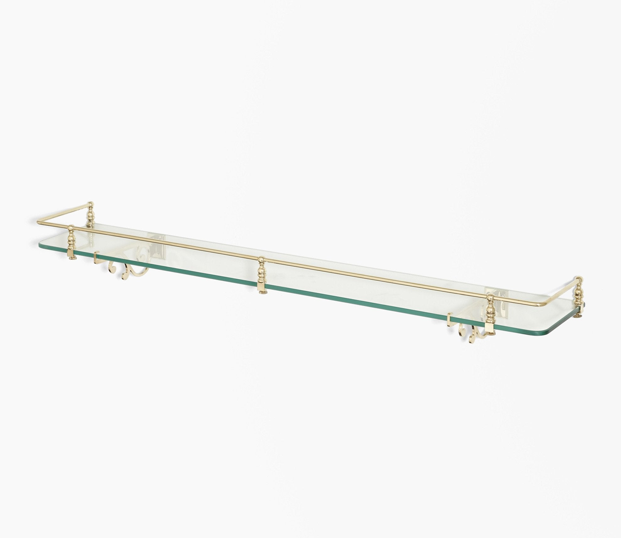 Classic Glass Shelf with Scroll Support Product Image 1