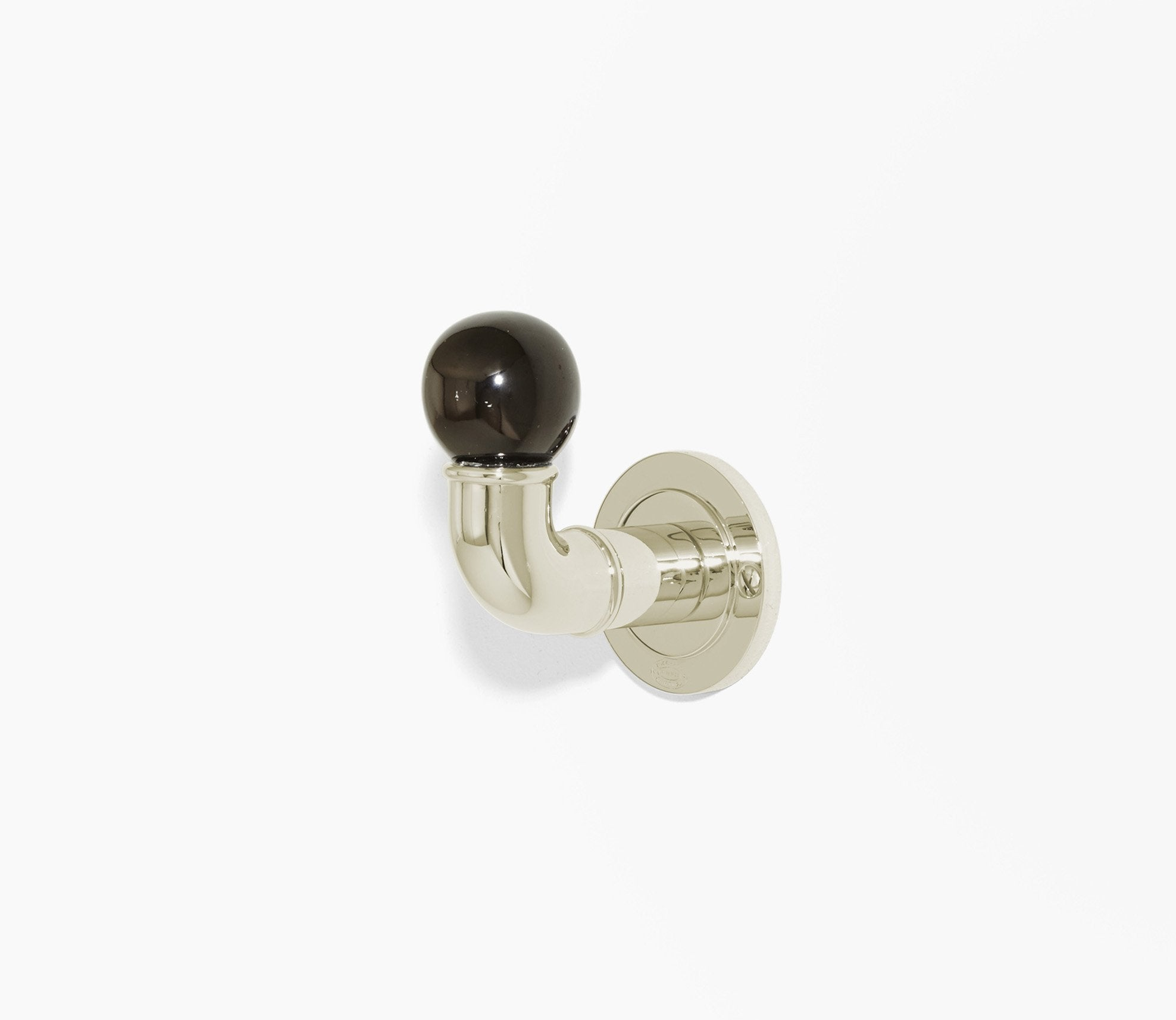 Moderna Single Hook Black Porcelain Product Image 1