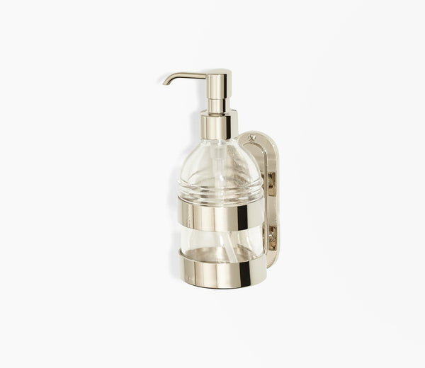 Moderna Wall Soap Pump Clear Glass