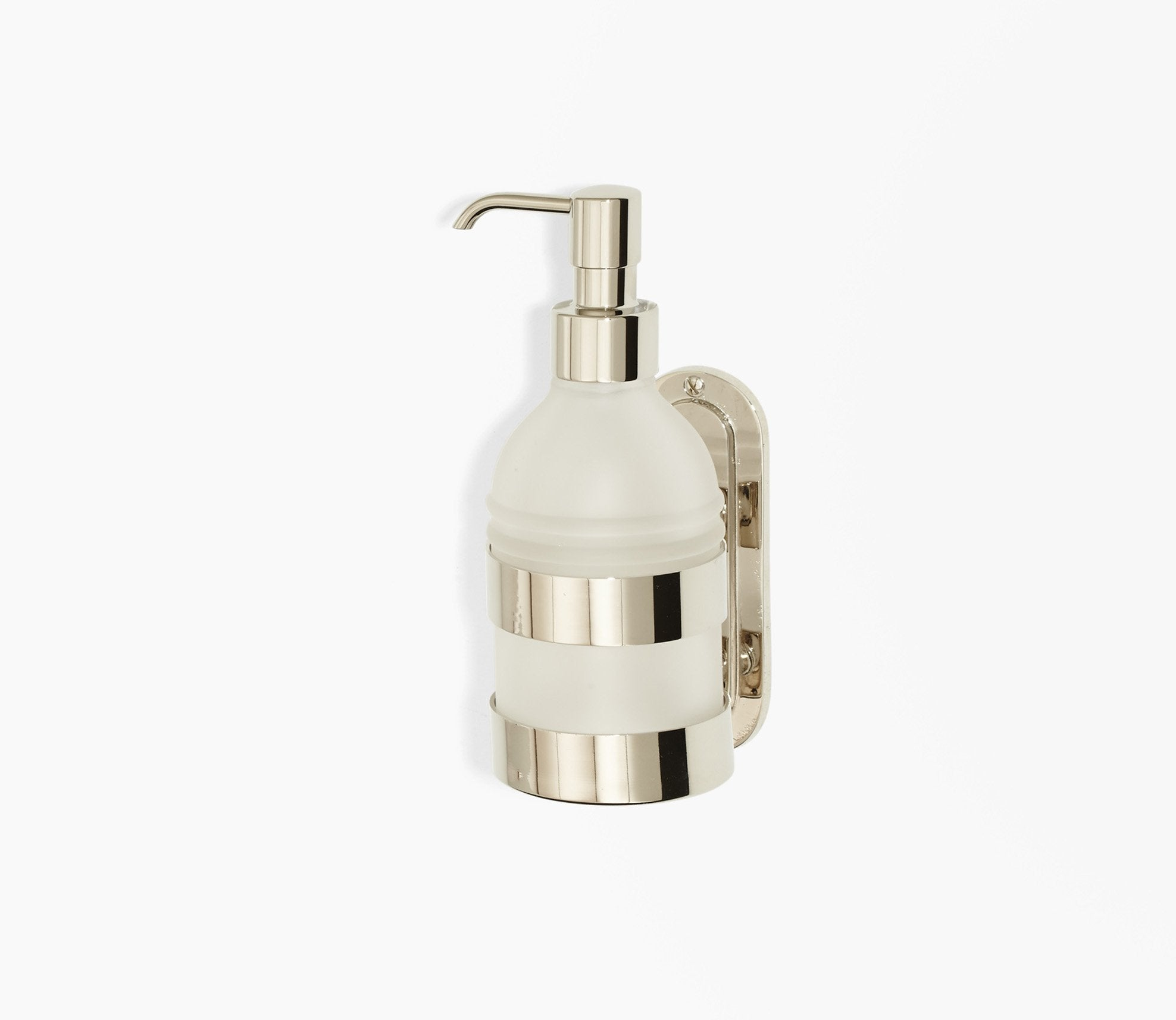 Moderna Wall Soap Pump Frosted Glass Product Image 1