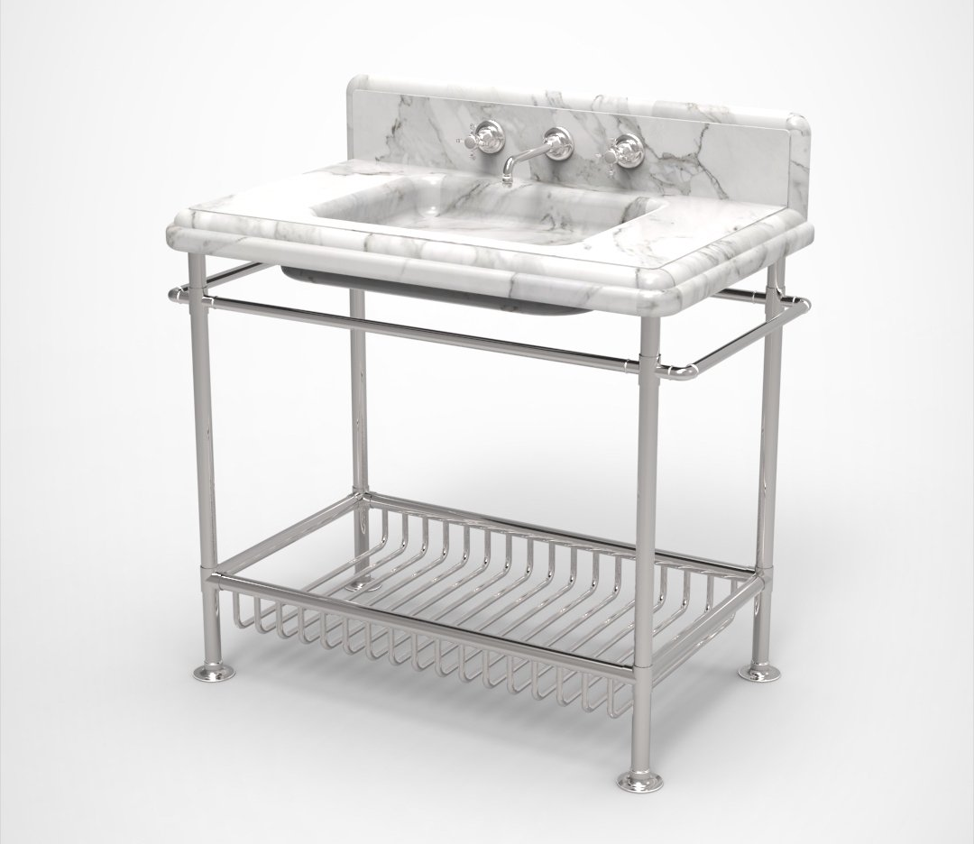 Moderna Washstand with White Marble Product Image 7