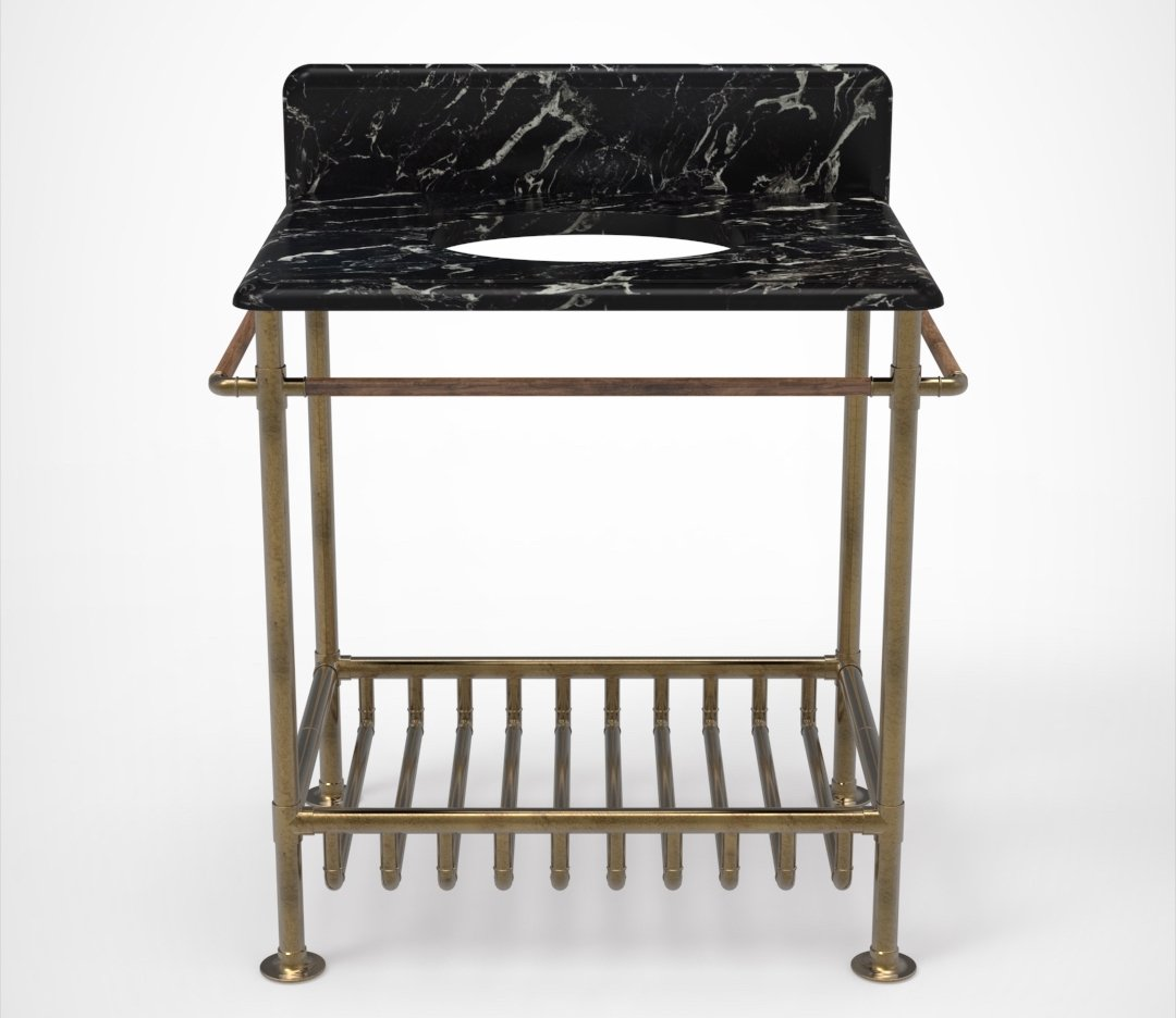 Moderna Washstand with Black Marble Product Image 5