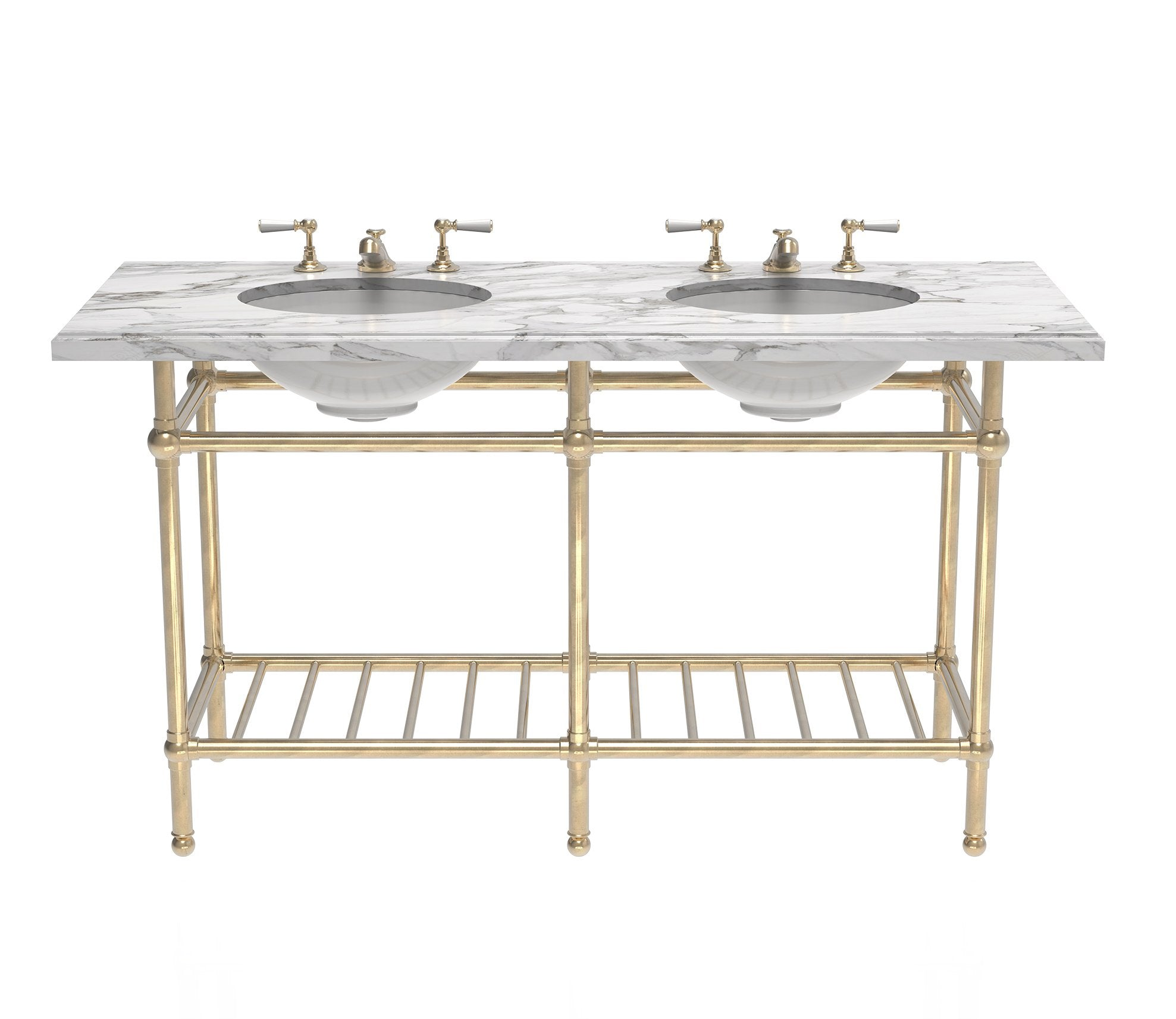 Gotham Washstand with Metal Shelf Double Product Image 3