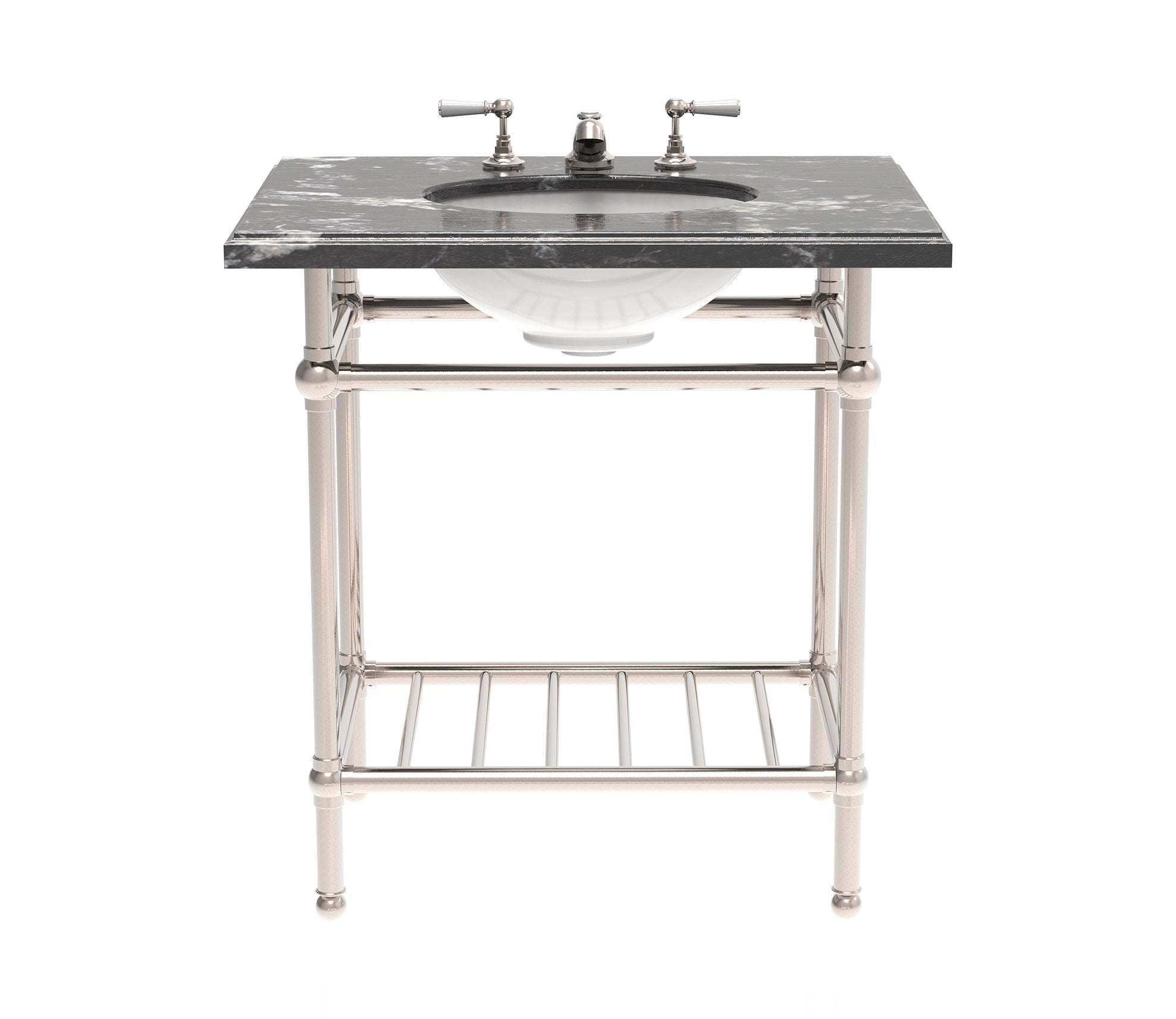 Gotham Washstand with Metal Shelf Single Product Image 2