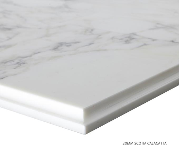 Marble Top Extra Wide Single Calacatta Product Image 4
