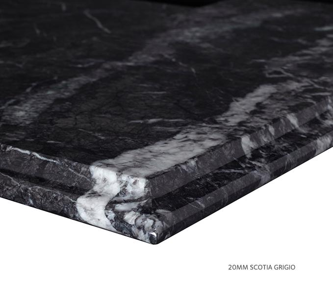 Marble Top Extra Wide Single Grigio Product Image 4