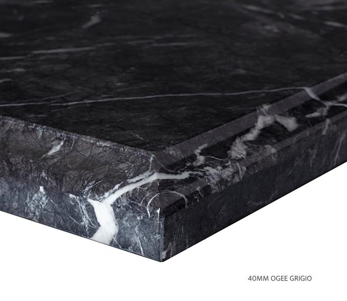 Marble Top Extra Wide Single Grigio Product Image 6