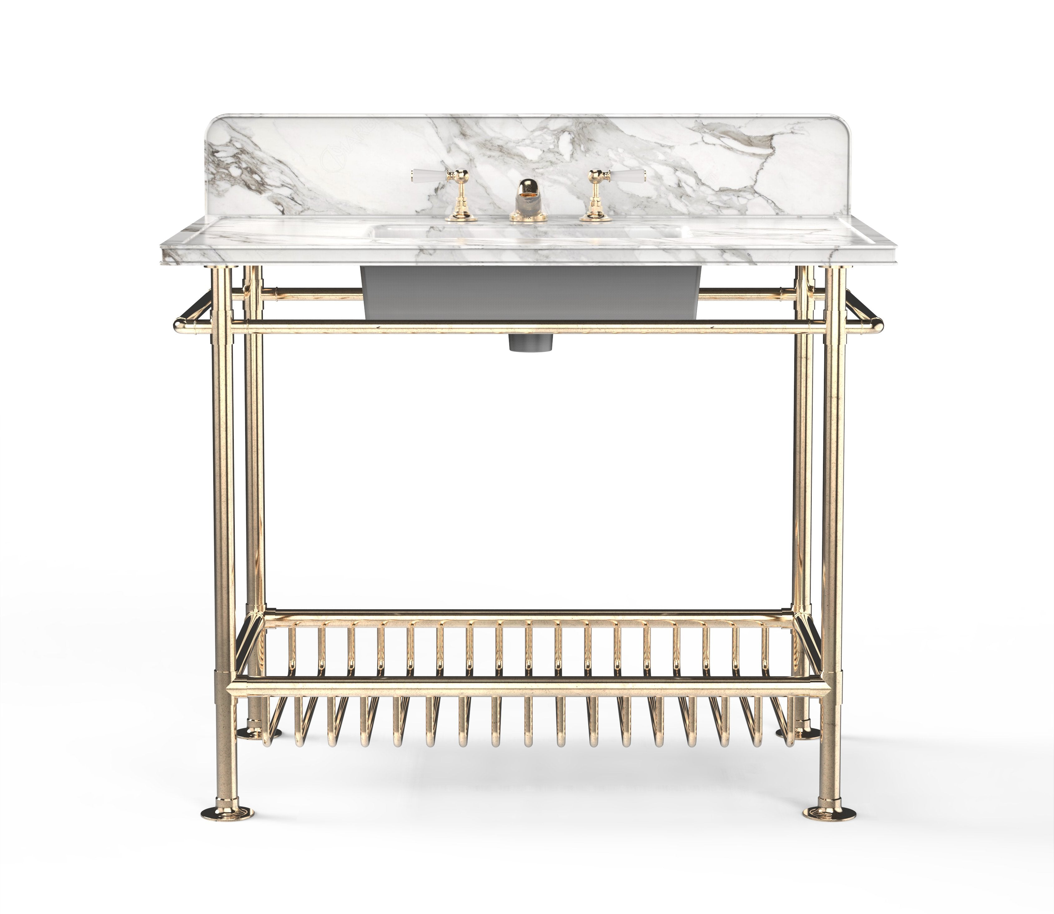 Moderna Washstand with White Marble Product Image 2