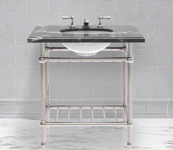 Gotham Washstand with Metal Shelf Single