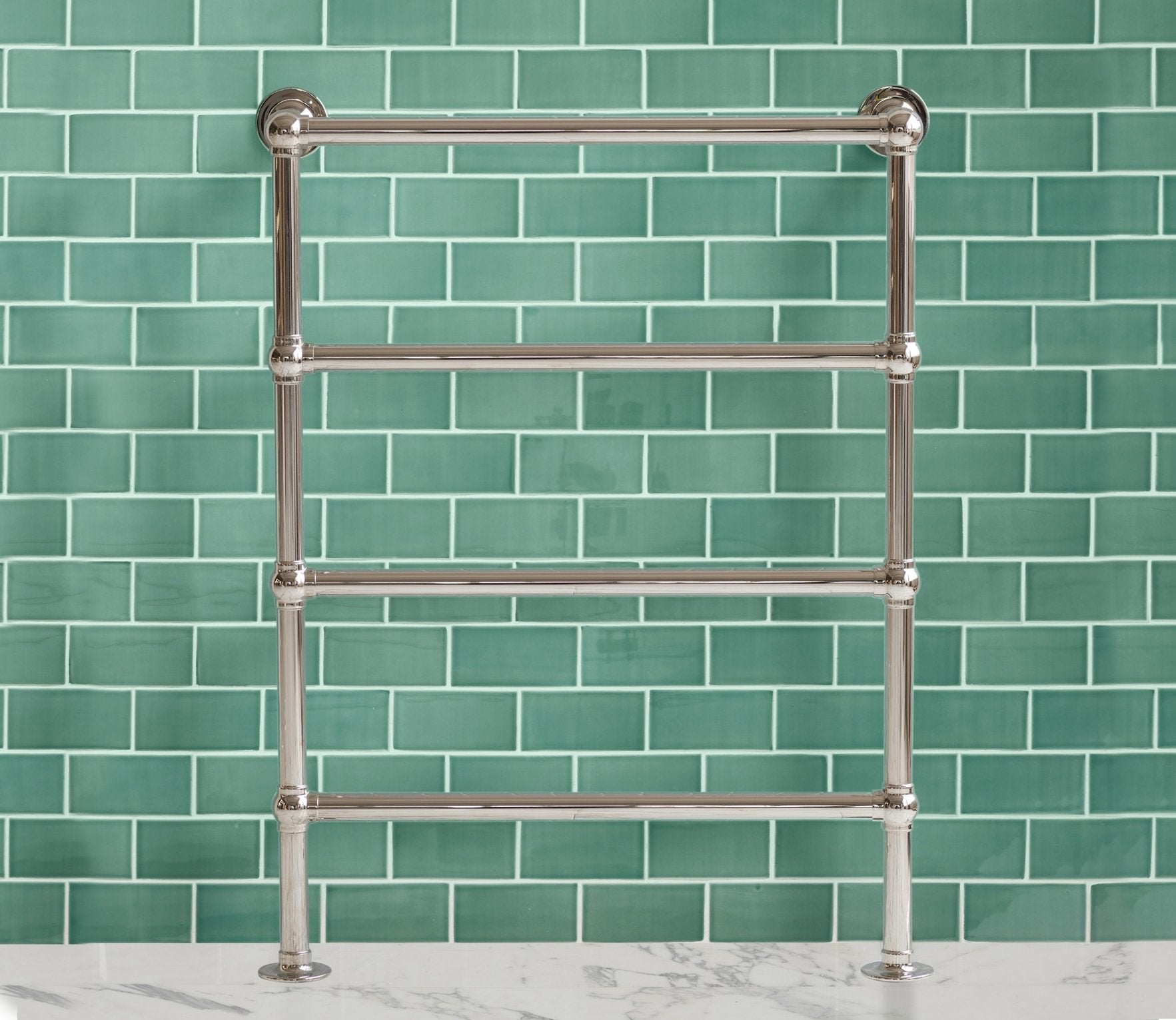Classic Towel Warmer 4 Bar Floor-to-Wall Product Image 1