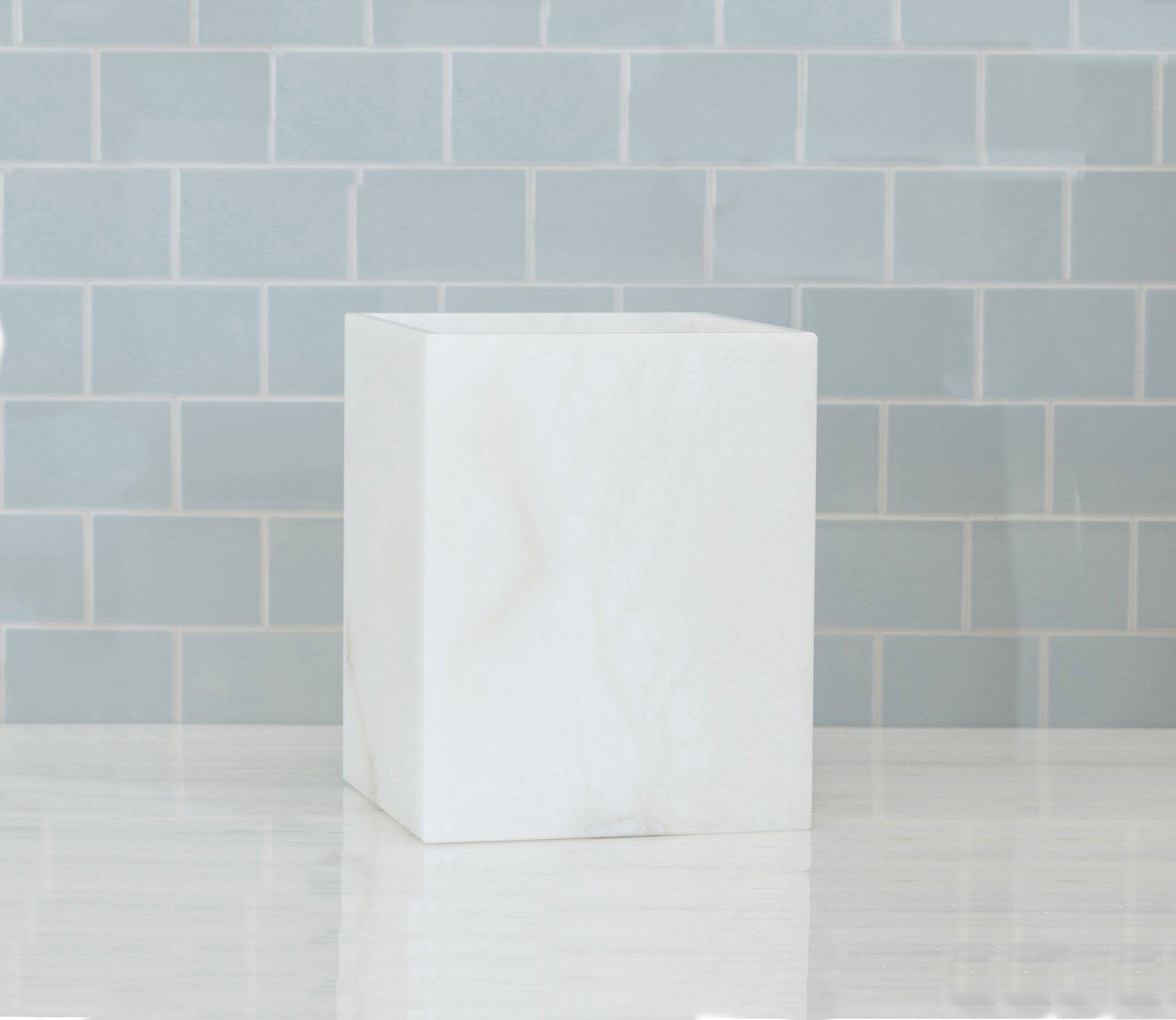 Alabaster Waste Bin Product Image 1