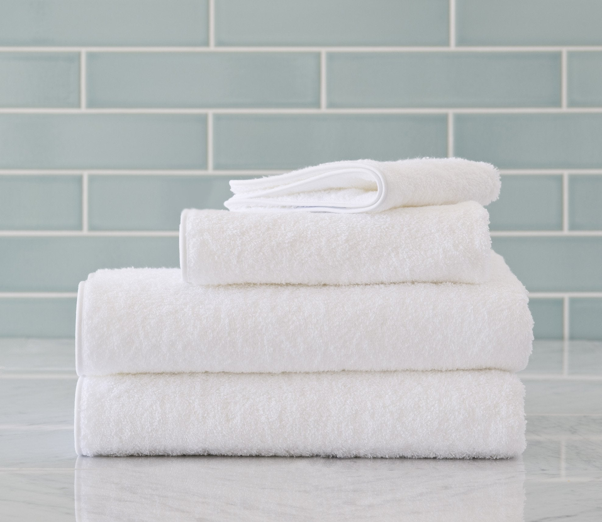 Cairo Bath Towels White Product Image 1