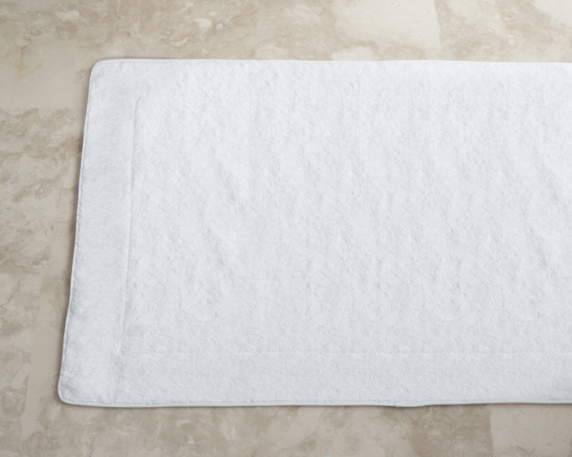 Cairo Tub Bath Mat White Product Image 1