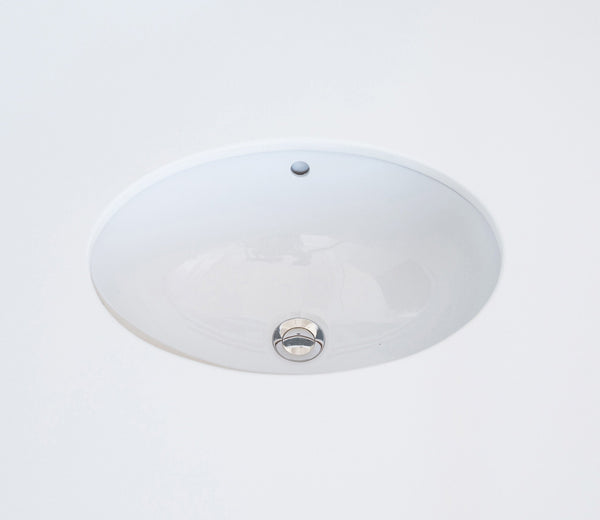 Ceramic Undermount Basin Oval 42 cm
