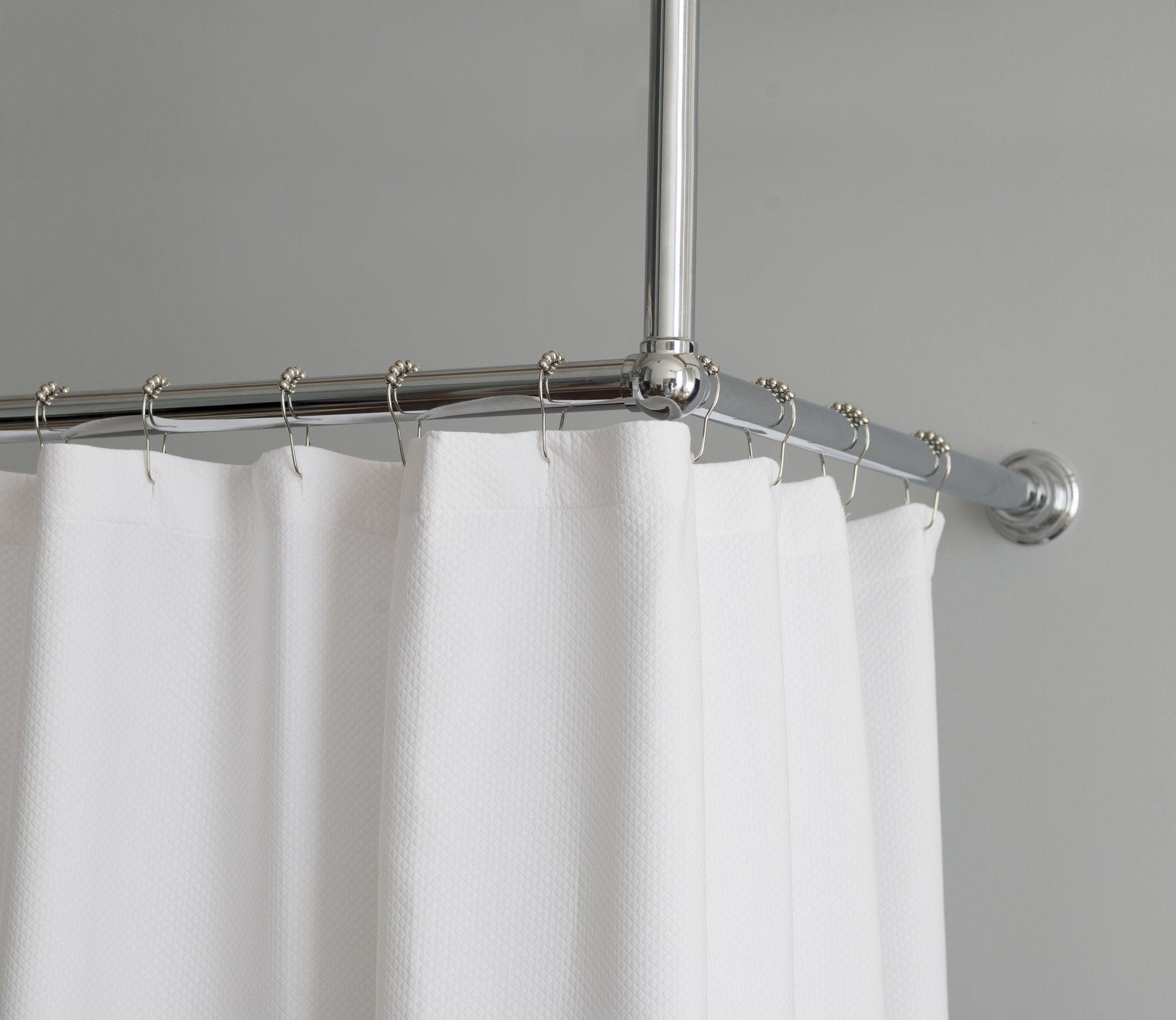 Shower Curtain Rail L-Shape Rail Product Image 1