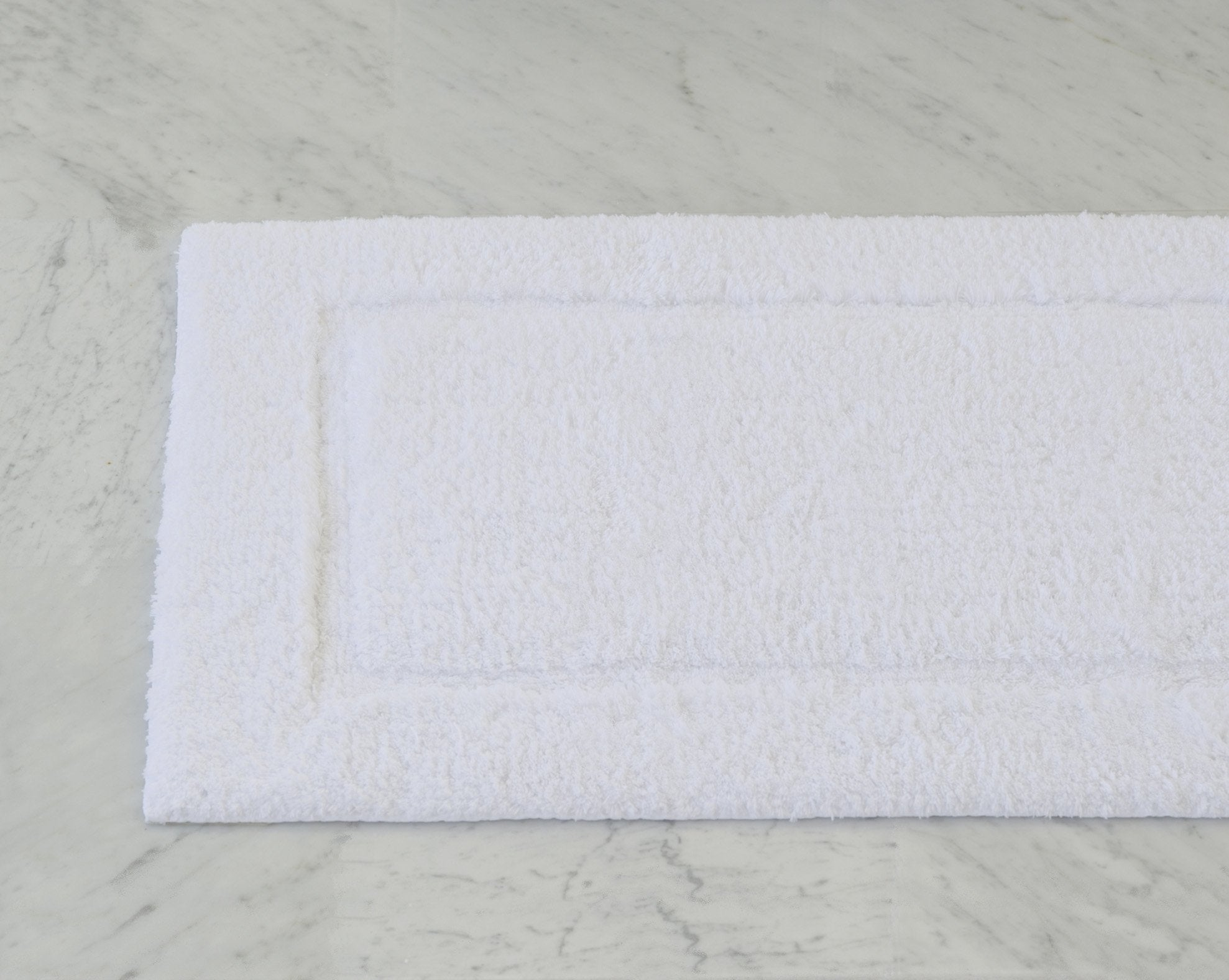 Milagro Bath Rug Large White Product Image 1