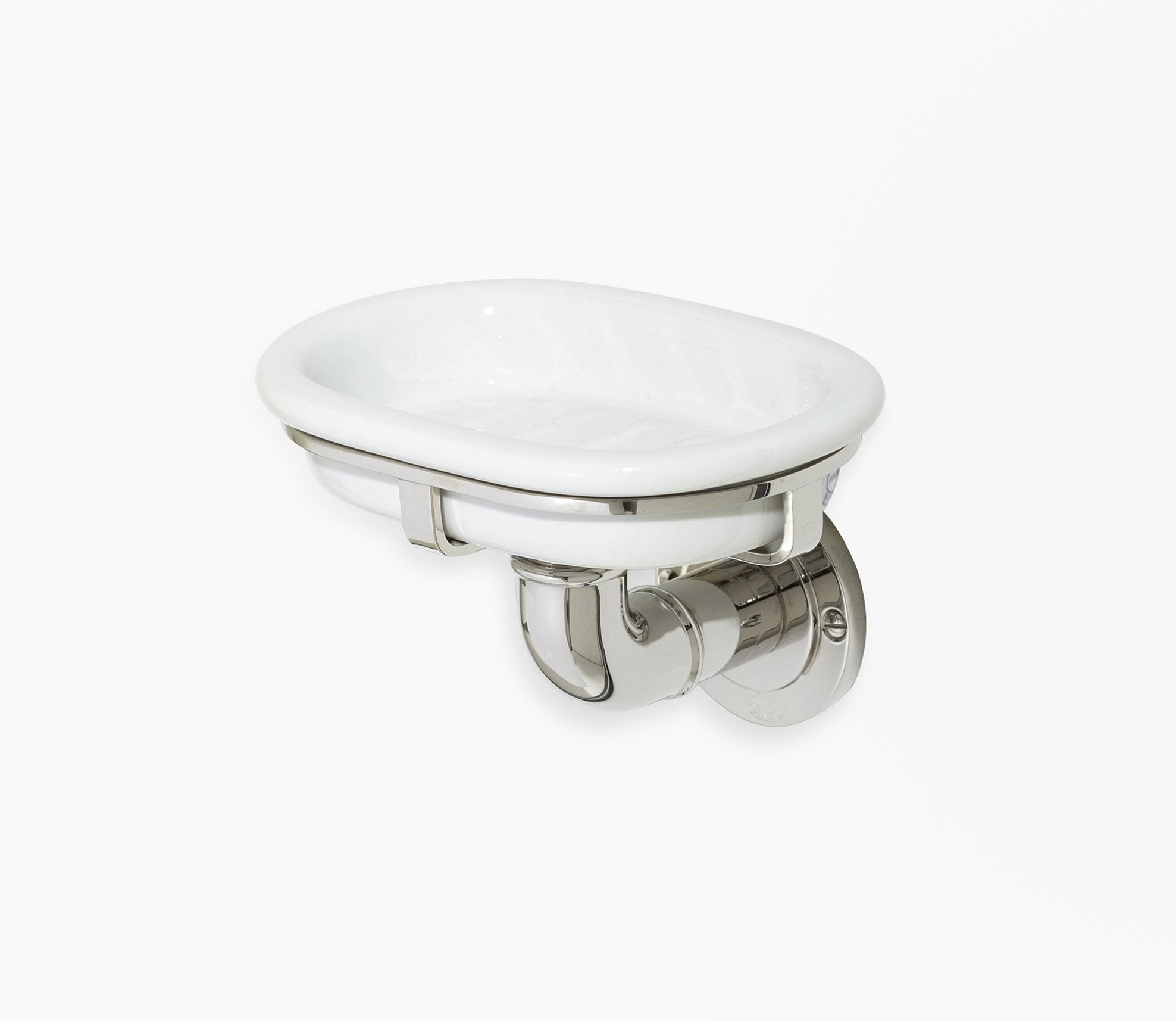 Moderna Wall Soap Dish Holder White Porcelain Product Image 1
