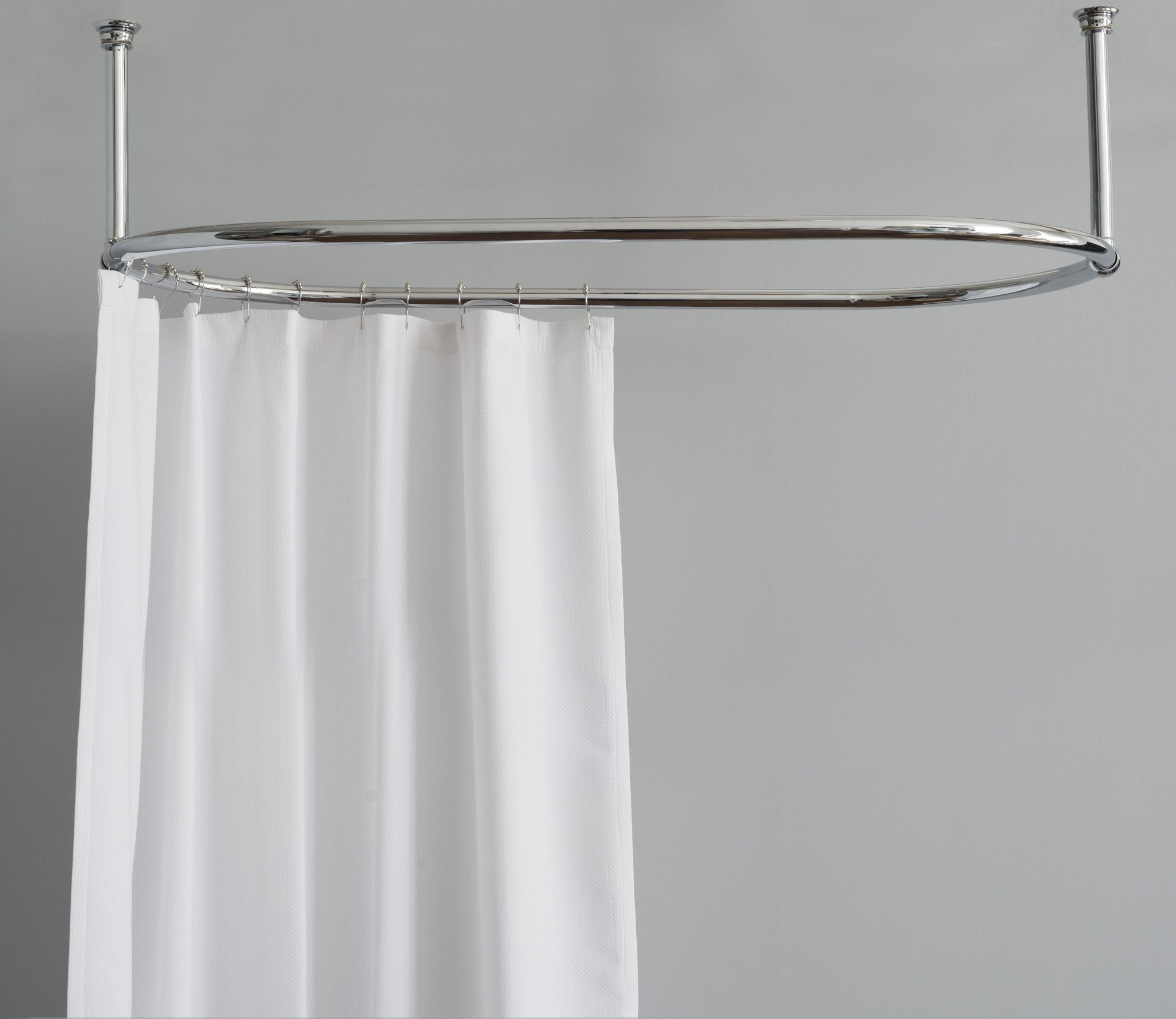 Shower Curtain Rail Oval Product Image 1