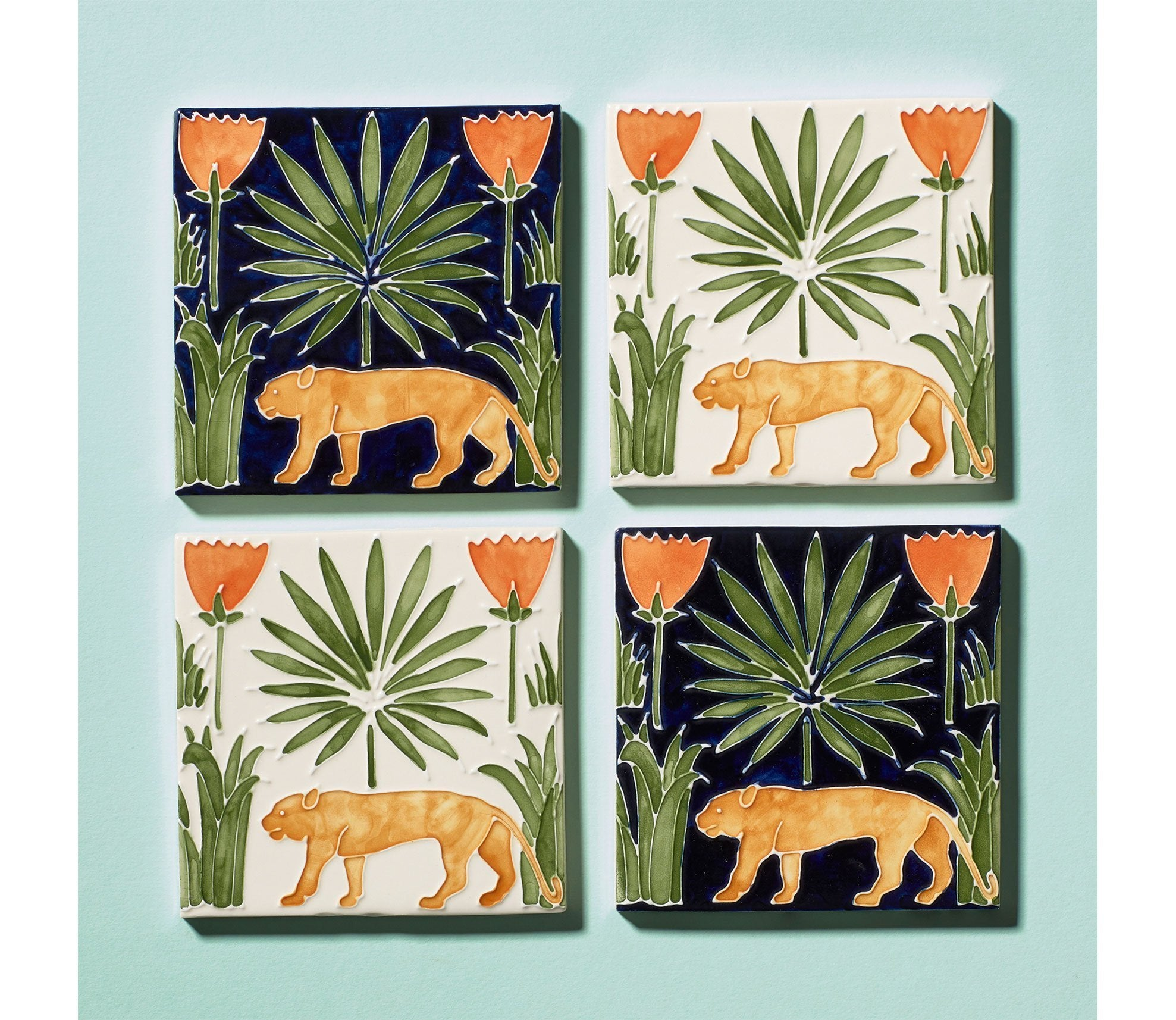 Lioness & Palms Tiles Product Image 1