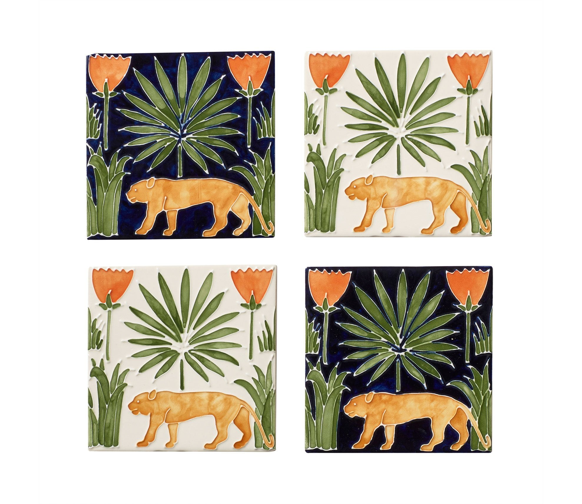 Lioness & Palms Tiles Product Image 2