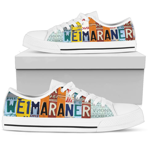 Amazing Weimaraner Mom Print Low Top Canvas Shoes For Women