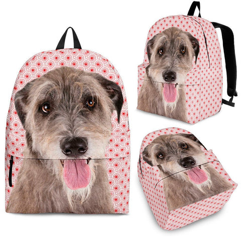 Irish Wolfhound Dog Print BackpackExpress Shipping