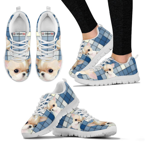 Chihuahua With 3D Blocks Print Running Shoes For Women